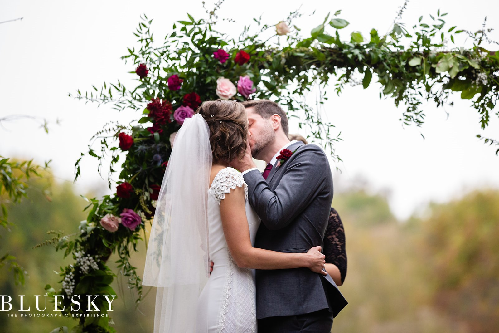 SociablyYours - Bride and Groom First Kiss