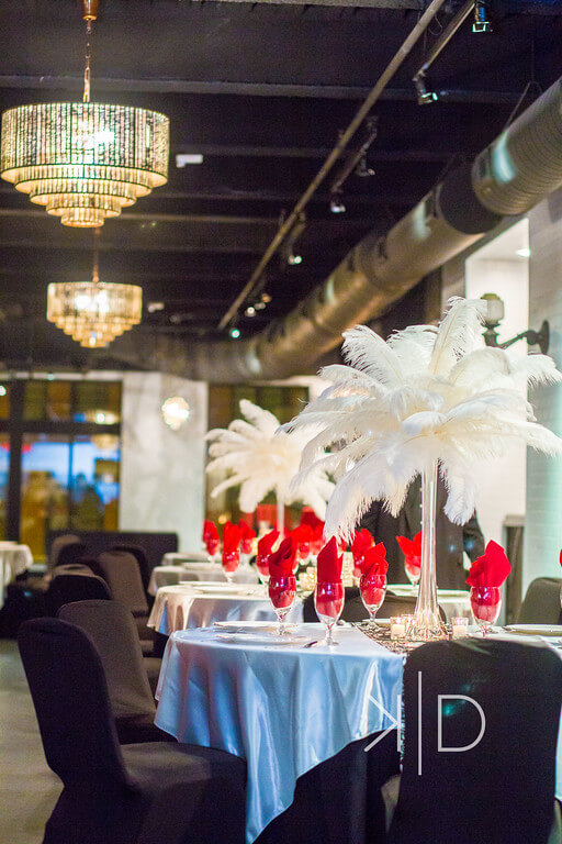 Sociably Yours - Feather Center Pieces